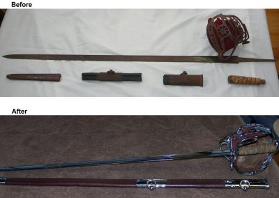 Sword Restoration Before and After