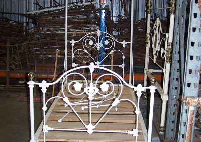Single Cast Iron bed with Tester